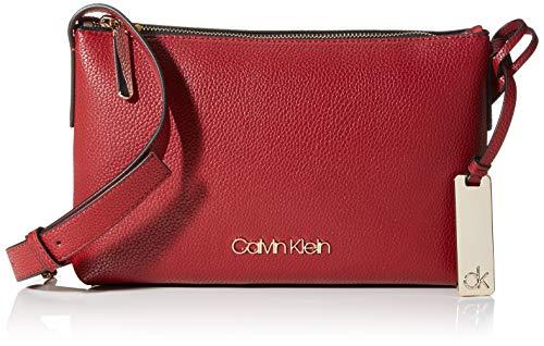 Calvin Klein Damen Neat F19 Ew Xbody Umhängetasche, Rot (Barn Red), 10.2x25.4x15.2cm