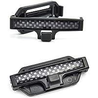 DDG EDMMS - Cinturón de Seguridad para Asiento de Coche, con Clip Fijo, Abrazadera Ajustable, Hebilla para Asiento de Coche, Color Negro