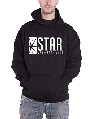 The Flash Kapuzenpullover Star Labs Logo Nue offiziell DC Comics Herren Schwarz