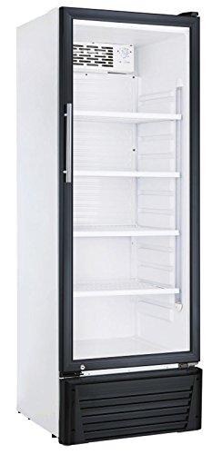 Kühlschrank mit Glastür 336 Liter Flaschenkühlschrank Getränkekühlschrank Gewerbekühlschrank 600 x 590 x 1710 mm