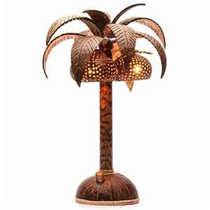Désir-déco - Lampe de chevet Palmier en noix de coco