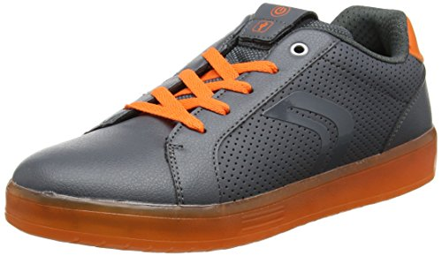 Geox J Kommodor B, Zapatillas Unisex Adulto, Gris (Dk Grey/Orange), 41 EU
