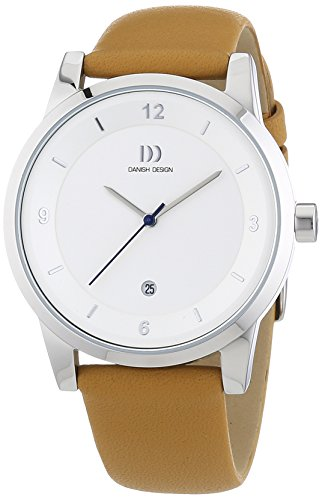 Danish Design Men's Quartz Watch with Black Dial Analogue Display and Gold Leather 3314475 XL