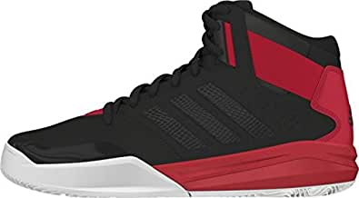 adidas Men's Outrival 2 Black, Red and White Sport Basketball Shoes - 6 UK
