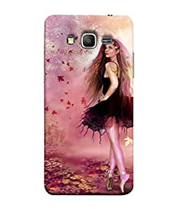 PrintVisa Designer Back Case Cover for Samsung Galaxy Grand Prime :: Samsung Galaxy Grand Prime Duos :: Samsung Galaxy Grand Prime G530F G530Fz G530Y G530H G530Fz/Ds (Fairy In Cute Pink Dancing On Toes Design)