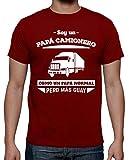 latostadora Camiseta Papá Camionero, como Un Papá Normal Pero Más Guay - Camiseta Hombre clásica, Rojo Talla 3XL