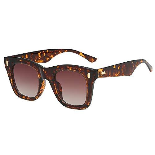XZANTE Quadratische Sonnenbrille M?nner Frauen Vintage Rivet Shades Sonnenbrille Trendy Damen Sonnenbrille Unisex Brillen (Schildpatt)