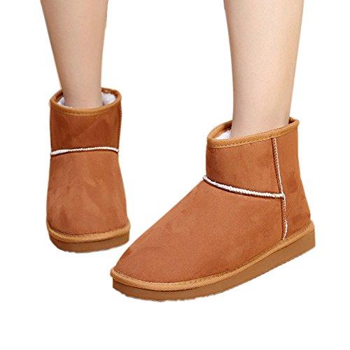 Minetom Donna Classic Mini Neve Stivali Autunno Inverno Calzature Female Moda Flats Shoes ( Marrone EU 40 )