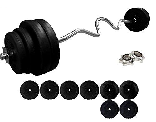 BodyRip 4ft EZ Super Curl Barbell Vinyl rund Gewicht Set 50Kg 2,5cm Standard Bar Home Gym Training