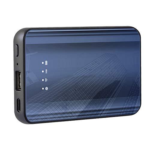 Mobile SSD Typ C High Speed WiFi Festplatte,Externe Festplatte für Laptops/PC/Mobiltelefone,Kompatibel mit 3D geschwungener Glasscheibe/MLC Chip/WiFi Relais(64G) ()