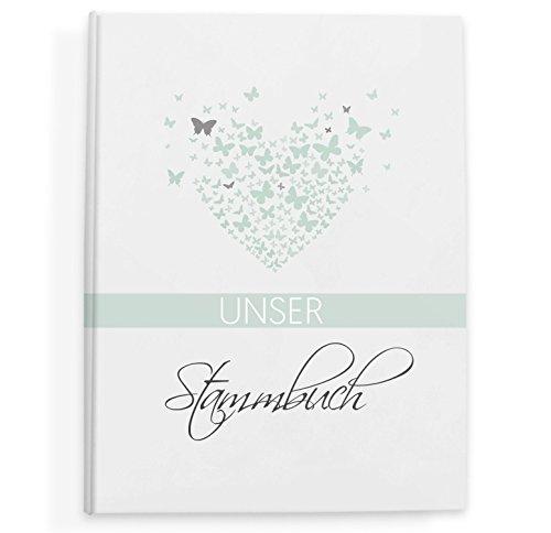 bigdaygraphix Stammbuch der Familie Familienstammbuch Butterflyheart Mint
