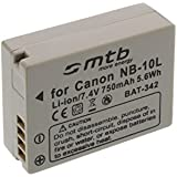 NB-10L Replacement Battery for Canon PowerShot G15, G1X, SX40 HS, SX50 HS ... See list