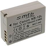 Batterie NB-10L pour Canon PowerShot G15, G1X, SX40 HS, SX50 HS