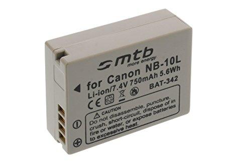 Ersatz-Akku NB-10L für Canon PowerShot G15, G1X, SX40 HS, SX50 HS … (siehe Liste)