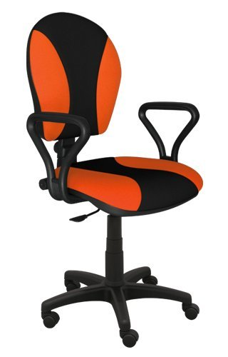 Best For Office Bürostuhl Höhenverstellung Schreibtischstuhl MARKO Modell (ORANGE-SCHWARZ)