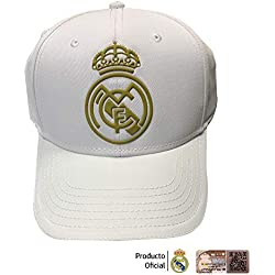 Real Madrid FC Rm3Go19 Adultos Unisex, Blanco/Oro