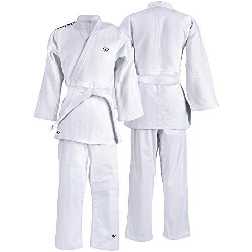 Starpro Kampfsport Karate Judo Uniform für Männer, Frauen und Kinder (White, 160 cm) -