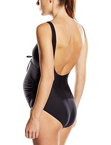 Speedo Women's Essential Grace U-Back Maternity 1 Piece Swimsuit – Black, L