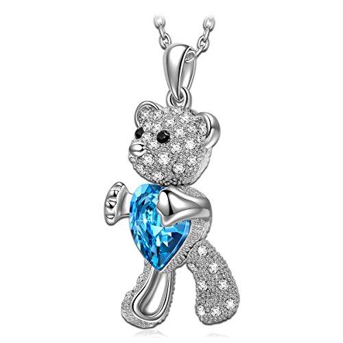 Kami Idee Geschenke für Frauen Halskette mit Swarovski-Kristallen Schmuck Geschenke zum Geburtstag Weihnachten Jubiläum Hochzeit Mutter Frau Tochter Mädchen Freundin Frauen Ihr