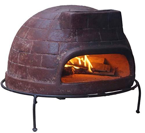 Sol-y-Yo Pizzaofen Premium Venedig Grande Steinbackofen aus Terrakotta 68 cm inkl. Schutzhülle