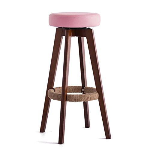 Qiangzi Chaises modernes en bois Table En Bois Massif Tabourets Hauts Tabouret En Cuir Souple Simple (Couleur Facultative) Pour Kitchen Bar Cafe (Couleur : B-S, taille : *4)