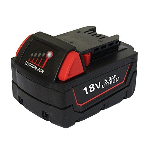 Eagglew 18V Batteria Sostitutiva Per Milwaukee M18 5.0Ah