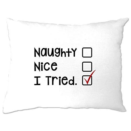 ten Kissenbezug Frech, Nizza, Habe ich versucht, Sankt Liste White One Size ()