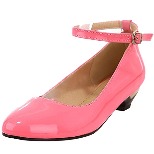 Coolcept Femmes Talon Bas Bride Cheville Ballerines Escarpins Doux Confort Chaussures pour Ecole Filles