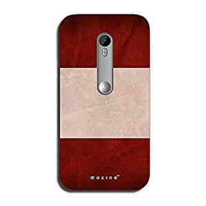 Mozine Maroon Drive printed mobile back cover for Motorola Moto G 3rd gen