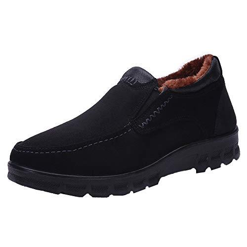LuckyGirls Zapatillas Negocio para Hombre Retro Espesamiento Casual Calzado de Planos Informales Bambas Zapatos para Perezoso Náuticos Mocasines Sin Cordones