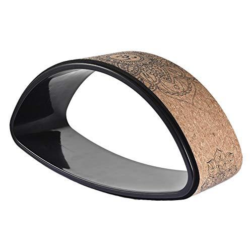 kaikki Yoga Rad Natürliches Kork Fitness Rad Yoga-Rad-Holz zum Dehnen Stabiler und Rutschfester Yoga Wheel Rolle