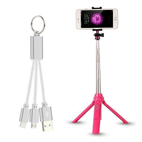 Bluetooth Bastone Selfie, Bonice Multifunzione Treppiedi Selfie Stick Folding Auto-Ritratto Ultra Compact estensibile Wireless Selfie Stick con Otturatore Bluetooth per , iPhone, Samsung, Huawei, HTC, Sony ( Rosso )