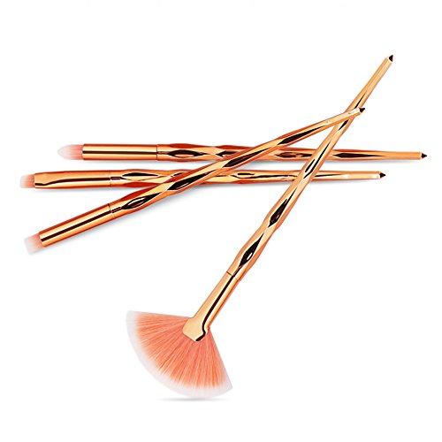 Eaylis Pinceaux Maquillages Yeux Fond De Teint Real Techniques Highlighter 4Pcs Maquillage Base Sourcils Eyeliner Blush Pinceaux CosméTiques Anticernes