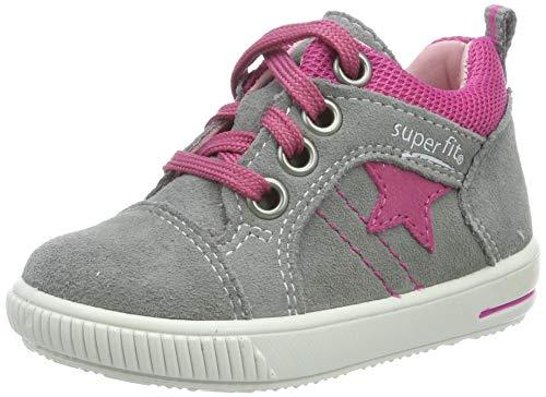 Superfit Baby Mädchen Moppy Sneaker, Grau (Hellgrau/Rosa 26), 22 EU