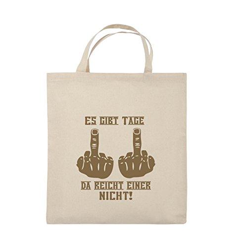 f0e8c58851307 Comedy Bags ES GIBT TAGE DA REICHT EINER NICHT Jutebeutel kurze Henkel  38x42cm Farbe Schwarz   Silber Natural   Hellbraun  -rechtsanwaeltin-schwarz.de