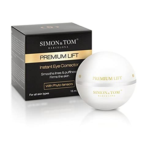 Simon & Tom Premium Lift Instant Eye Corrector Cream - Improved Formula with Lifting and Firming Phyto-Tensors Reduces Fine Lines, Wrinkles & Dark Circles 15 ml.