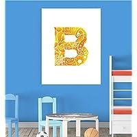 Alphabet B Nursery Children Educational Early Learning Poster Print Wall Art V2 preiswert