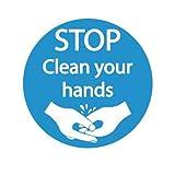 500mm diametro, lavare a mano pavimento marcatori–Confezione di 5Heavy Duty Safety Floor sticker (R11nominale)