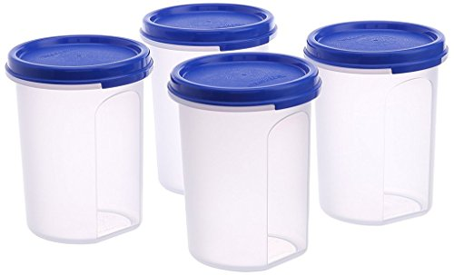Tupperware MM Round Container Set 440ml Set of 4  available at amazon for Rs.580