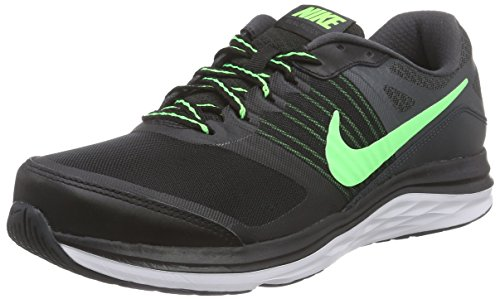 Nike Dual Fusion X, Scarpe sportive, Uomo Nero (Black/voltage Green/anthracite/white)