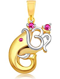 V. K. Jewels Pendant for Women (Gold)(vkp1469g)