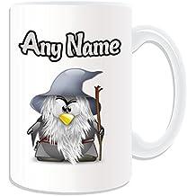 Personalizado Regalo – Taza, diseño de Gandalf grande (pingüino), diseño de personaje