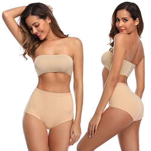 K-cheony Comfort Damen Hoher Taille Baumwolle Unterwäsche Weiche Slip Panty Regular und Übergröße - - Mittel - 3