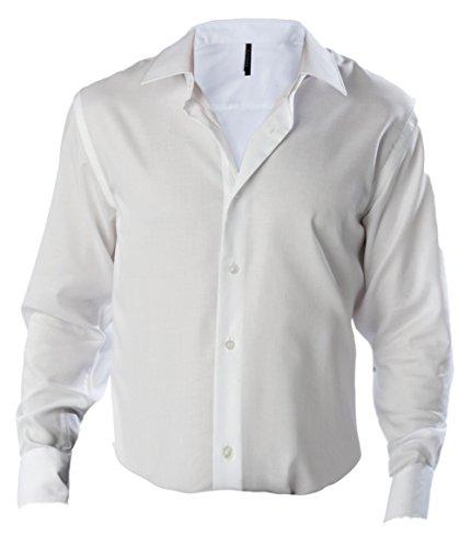 Bügelfreies Herren Langarm Hemd Supreme - 120 g/m² - Unisex White