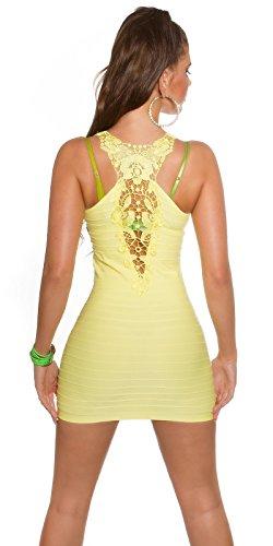 In - Stylefashion Damen Etui Kleid Gelb