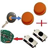 Für Smart 450 Funkschlüssel Schlüssel 2x Tastenfeld Gummi + 2x Mikroschalter SMD Taster