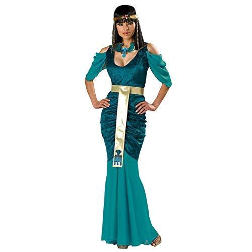 LVLUOYE Cosplay Halloween Griechische Göttin Kostüm Prinzessin Kleid dünnes Abend-Kleid ()
