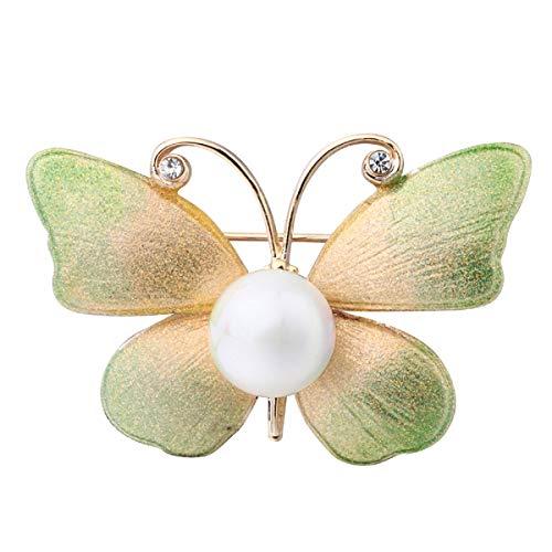 WFYJY-Mode-brosche zubehör handgemachte bemalte nachahmungen von echten perlen diamanten Schmetterlinge kostüm-brosche pins Geschenke