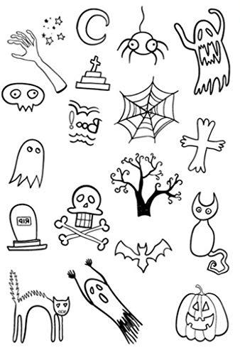 örper, temporäre Tattoos, fluoreszierend, Halloween, Katzen, Gespenster, Monde Boo ()