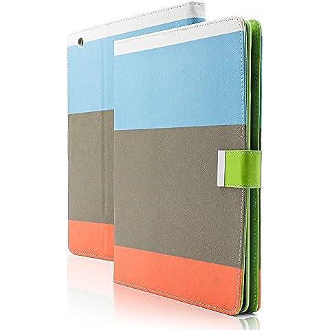 Imperii Electronics TE.01,0107.03-Custodia in pelle di qualità ecologica per iPad 2, 3 e 4, colore: blu